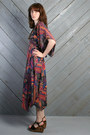 Black Gypsy Scarf Vintage Dresses
