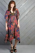 Black Gypsy Scarf Vintage Dresses