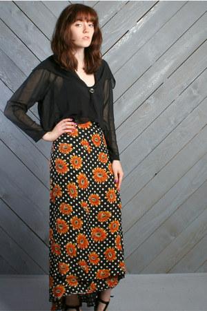 black LUCKY VINTAGE skirt
