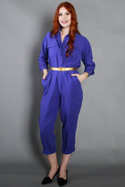80s Blue Jumpsuit