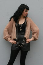 Nude-sheer-pleated-vintage-blouse