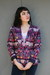 deep purple ikat silk vintage blazer