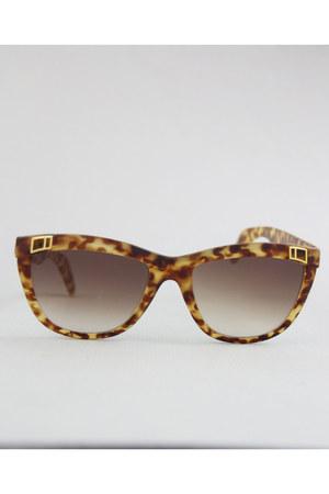 brown tortoise Vintage Charles Jourdan sunglasses