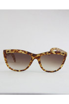 brown tortoise Vintage Charles Jourdan sunglasses