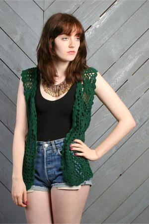 forest green vintage vest