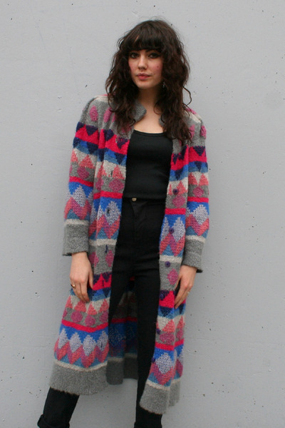 heather gray vintage coat