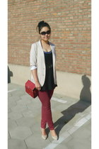 brick red random from Hong Kong bag - brick red random brand leggings