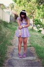 Light-purple-rosy-ruby-dress-light-purple-zara-shoes-white-vintage-hat