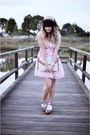Bubble-gum-dahlia-dress-camel-oasap-hat-brown-forever-21-clogs