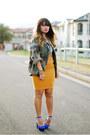 Army-green-asos-jacket-mustard-blue-jade-skirt-blue-steve-madden-heels