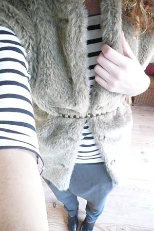 vintage vest - Zara pants