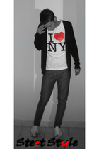 NY t-shirt - benetton shirt - Gas jeans - Dolce & Gabbana shoes