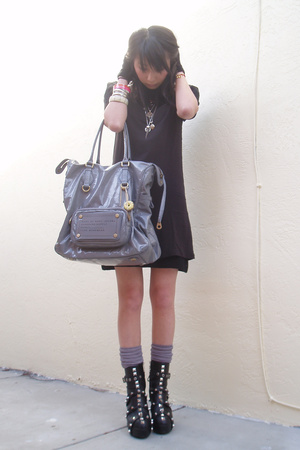 Alexander Wang dress - Obesity & Speed gloves - H&M socks - tripp shoes