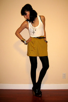H&M top - American Apparel skirt - Aldo shoes - vintage necklace