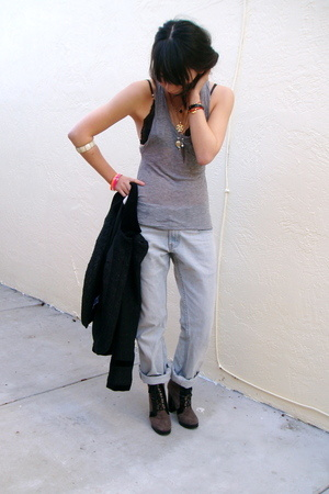 Alexander Wang top - Levis jeans - Marc by Marc Jacobs shoes - Topshop jacket