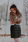 Tights-leather-skirt-vintage-blouse