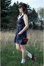Blue-dear-beatrice-dress-black-ray-ban-sunglasses-brown-forever-21-belt-wh
