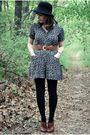 Black-vintage-shorts-black-target-hat-black-target-tights-brown-seychelles