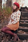 Cream-bird-vintage-blouse-dark-brown-bradley-jeffrey-campbell-boots
