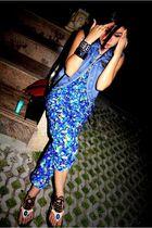 blue platinum jumper - blue Tak Thailand vest