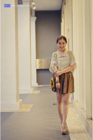 sheer polkadot random from Hong Kong blouse - KAT Collection skirt