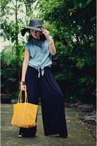 goyard bag - random from Hong Kong blouse - random from Hong Kong pants