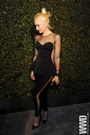 Black-mesh-lamb-dress
