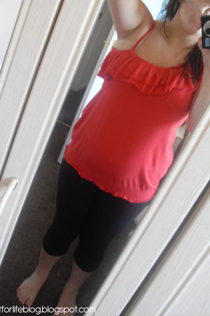 black Primark leggings - red GeorgeAsda top