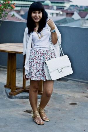 Chanel bag - Jus D orange skirt - casio watch - accessories - sandals