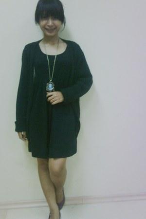 dress - sweater - Elizabeth necklace