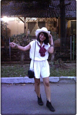 romper - boots - hat - scarf - bag - accessories