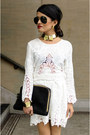 Dolce-vita-dress-aviators-ray-bans-sunglasses-gold-collar-asos-necklace