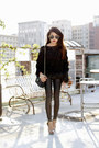Vintage-chanel-chanel-bag-ray-bans-sunglasses-fringe-blouse-storets-top