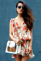 vintage boots - Forever 21 dress - The Caravan bag - oscar magnusson sunglasses