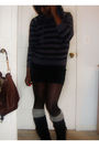 Black-american-apparel-skirt-black-forever-21-sweater-silver-wet-seal-socks-