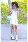 White-platform-steve-madden-boots-light-blue-tie-dye-shift-tobi-dress