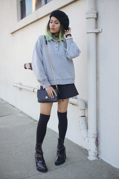 heather gray boxy fleece Cottonhood Apparel sweater