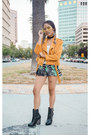 Black-leather-jeffrey-campbell-boots-mustard-suede-moto-missguided-jacket