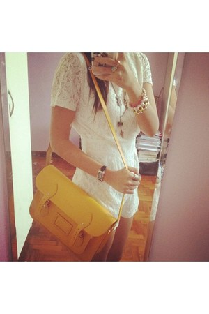 yellow 13inch cambridge satchel bag - lace romper