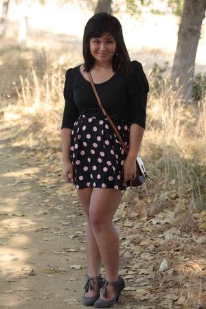 Pins & Needles top - H&M skirt - Oggi Domani bag - Kimchi Blue shoes