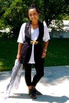 forever 21 vest - American Apparel shirt - Mimi DIN belt - Gap leggings - Kelsi