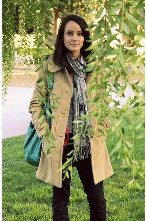 Tulle coat - Gap jeans - Target scarf - deux lux purse