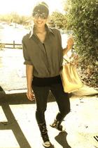 dotty sweater - Mango pants - The Ramp purse - Shoe Salon shoes