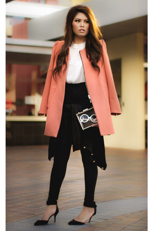peach peach Zara coat