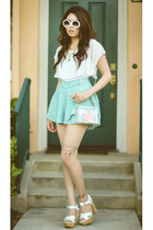 clear Ebay bag - half tint zeroUV sunglasses - chiffon Zara blouse