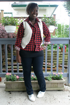 shirt - vest - Urban Outfitters shoes - Target jeans