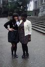 Beige-salvation-army-jacket-black-value-village-dress-joe-fresh-style-stocki