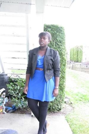 Kimchi&Blue dress - jacket - belt - payless - purse