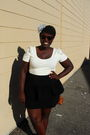 White-h-m-shirt-black-nenee-skirt-black-old-navy-shoes-gray-claires-access