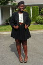 White-shirt-black-old-navy-skirt-black-jacket-brown-belt-brown-seychelle